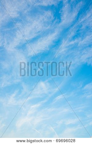 Thin Clouds And Blue Sky