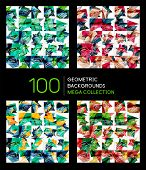 Huge mega collection of 100 abstract backgrounds, business brochure covers poster