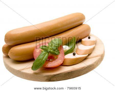 appetizing fresh sausage