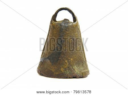 Antique and rusty cowbell