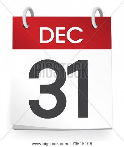 December 31st Calendar Vector