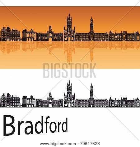 Bradford Skyline In Orange Background