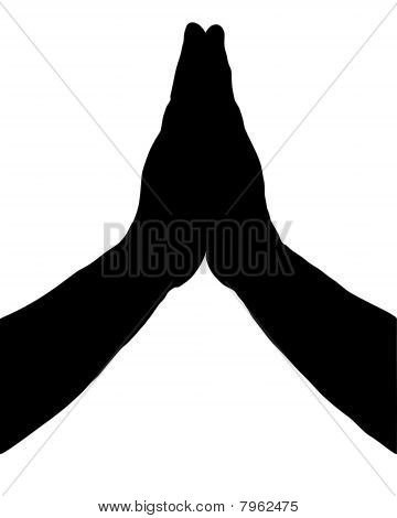 Молиться руки