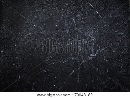 Abstract Black Background With Scratches. Vintage Grunge Background Texture, Elegant Monochrome Back
