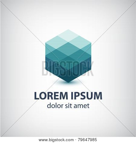 vector crystal abstract icon, logo
