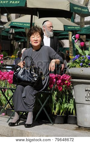 Asian woman and Jewish man in New York City