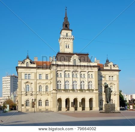 neo-classical architecture of City Hall in Novi Sad, Serbia poster