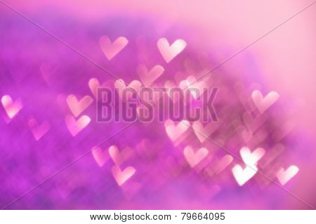 Pink Festive Valentine's Day Background
