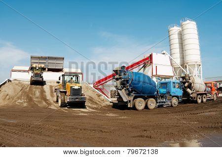 Concrete-mixing plant