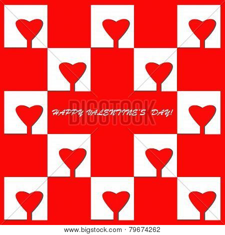 elegant background with hearts, for greeting, invitation card, or cover.