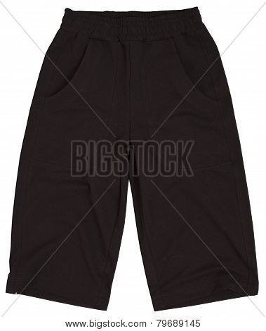 Male shorts isolated on white background.