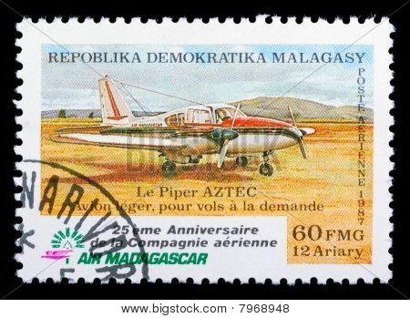 Madagascar Air Mail Stamp