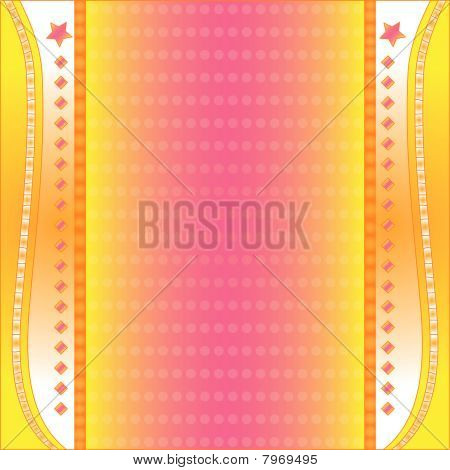 Colorful vector background with stars and dots