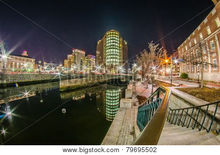 Providence Rhode Island From The Far Side Of The Waterfront