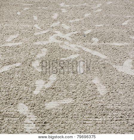 Footmark Confused On Sand