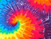Close up of a tie dye shirt poster