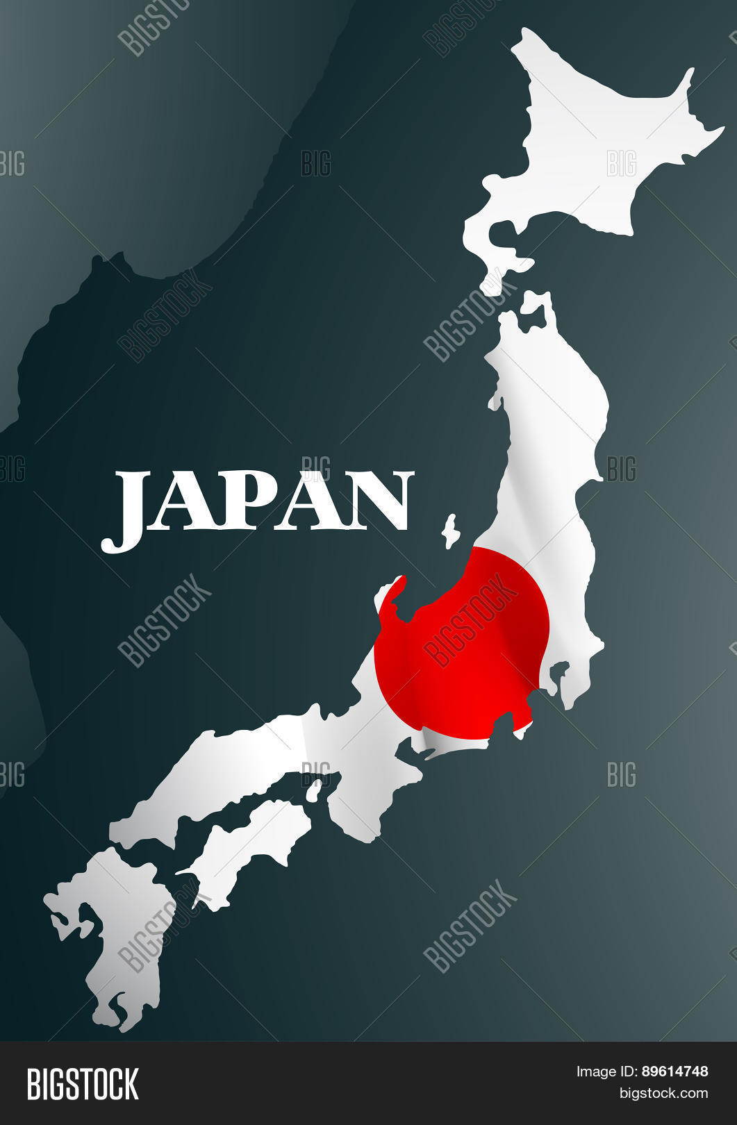 Japanese Country Map Vector Free Trial