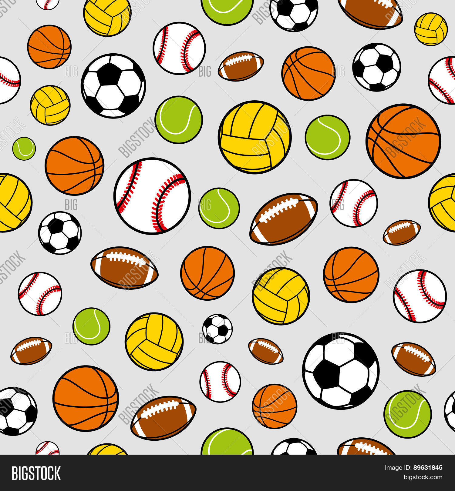 Vector Sports Balls Vector Photo Free Trial Bigstock