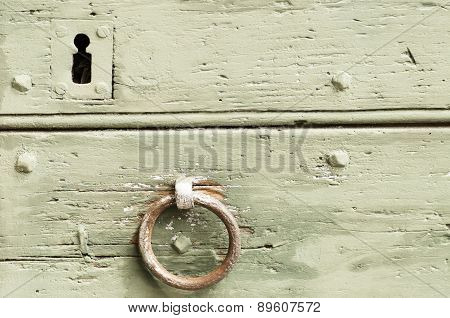 Detail Of An Old Door And Mediaval