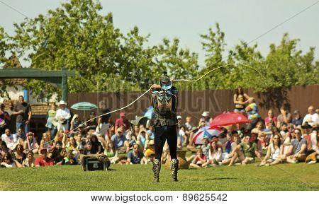 A Whip Master At The Arizona Renaissance Festival
