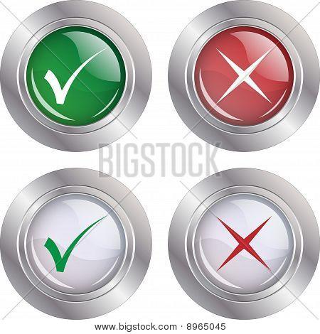 Button Check mark-Cancel