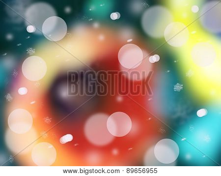 Floating shapes background bokeh