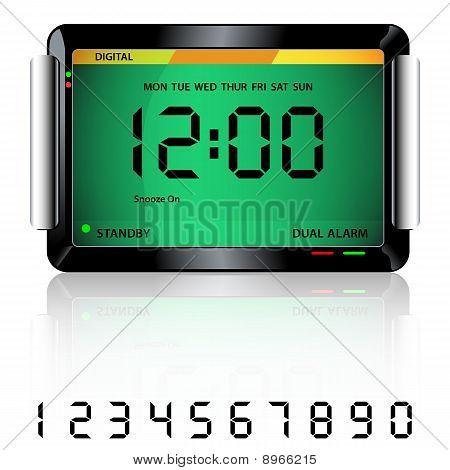 Digital Alarm Clock Green
