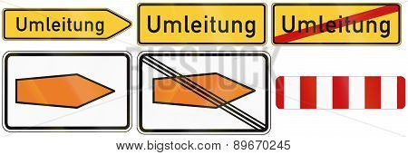Detour Signs In Germany