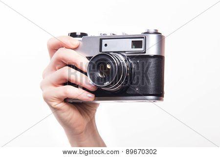 Classic Camera In Hand