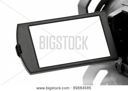Blank Display Of Handycam Camcorder