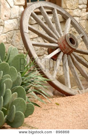 Wagon Wheel  & Cactus