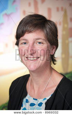 Retrato de mujer de negocios sonriente