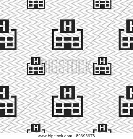 Hotkey Icon Sign. Seamless Pattern With Geometric Texture. Vector