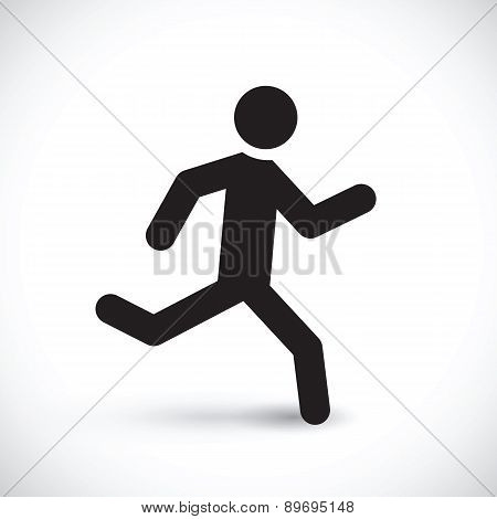 Running Stick Man