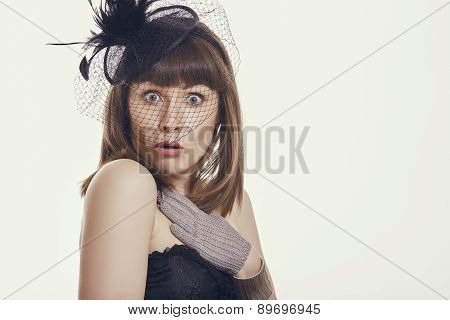 Startled Woman
