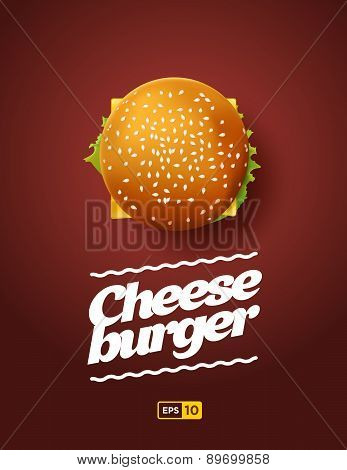 Top View Illustration Of Cheesburger