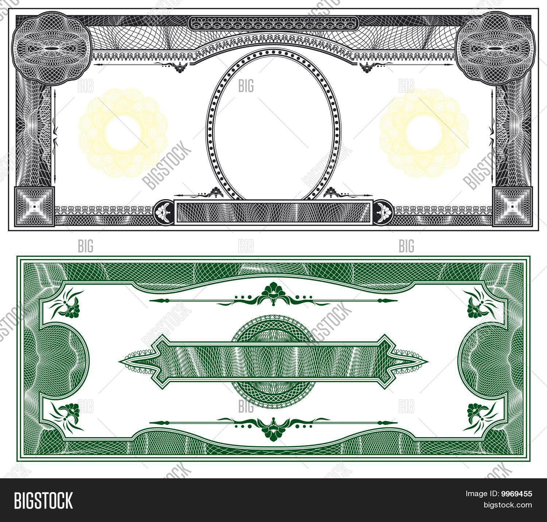 custom fake money template - blank banknote layout image photo free trial bigstock