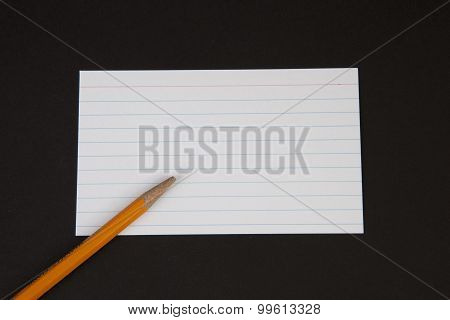 Pencil And Notecard