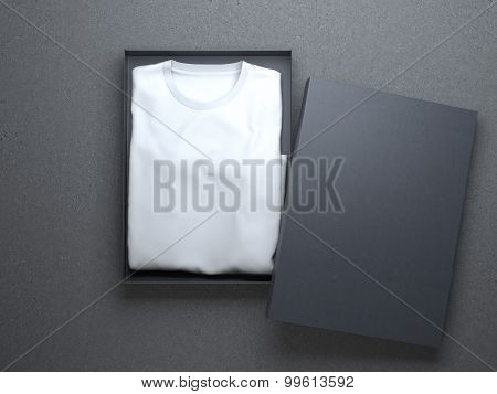 White t-shirt in a nice cardboard packaging