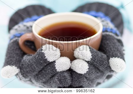 Cup Of Hot Drink In Hands