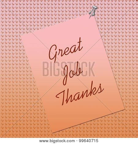 Thank You Note Posted