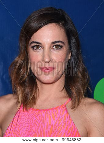 LOS ANGELES - AUG 10:  Lindsay Sloane arrives to the Summer 2015 TCA's - CBS, The CW & Showtime  on August 10, 2015 in West Hollywood, CA