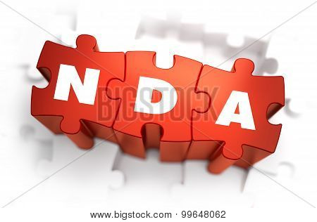 NDA - White Word on Red Puzzles.