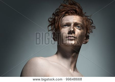 Red Man With Bronzy Face