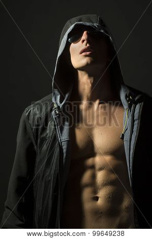 Boy In Jacket With Hood