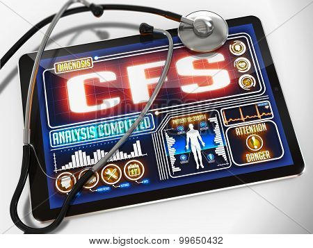 CFS on the Display of Medical Tablet.