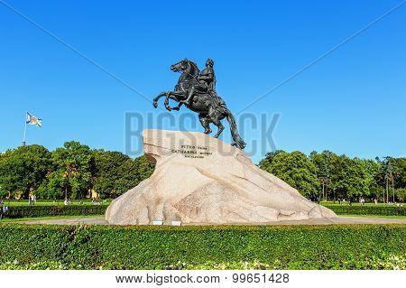 Saint Petersburg/Russia - August 01, 2015: The Bronze Horseman
