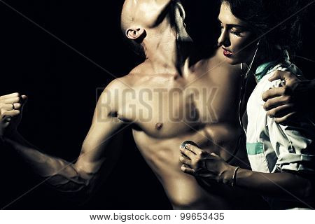 Stripped Man And Nurse