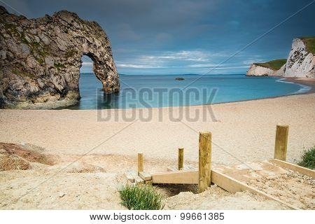 Durdle Door Arch In Jurassic Coast In Dorset, Uk