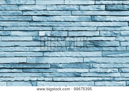 Wall Blick Blue Cement Stone Background.